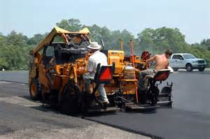 loading paver with hot mix